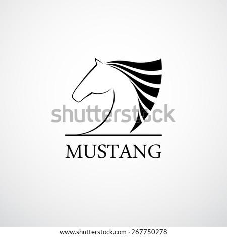 Logo Horse. Abstract symbol. Corporate icon. - stock vector