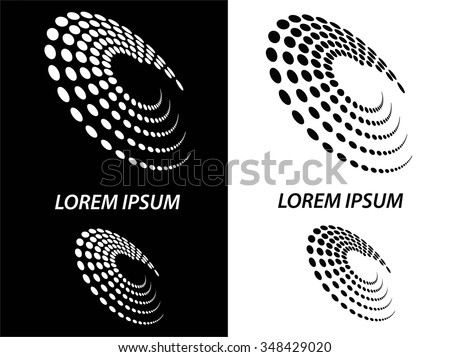 Logo icon design and Business cards set. Black and white symbol