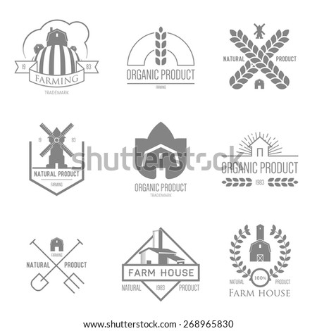 Logo inspiration for shops, companies, advertising or other business. Vector Illustration, graphic elements editable for design.  - stock vector