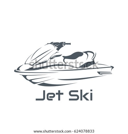 logo jet ski scooter on a white background