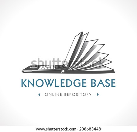Logo - knowledge base - stock vector