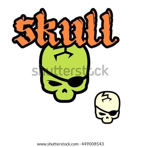 Logo Layout Skull For Hardcore Metalcore Band Image Cartoon With