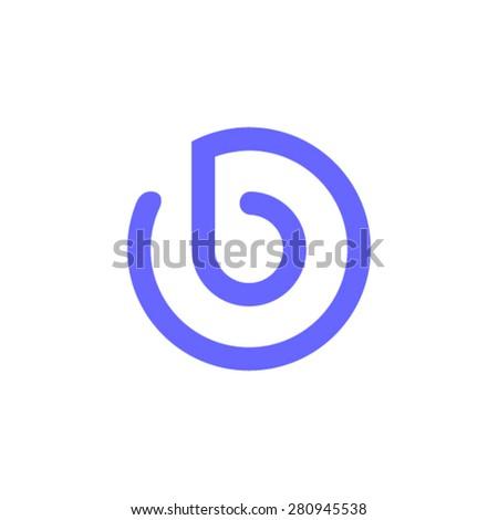 Logo letter b - stock vector