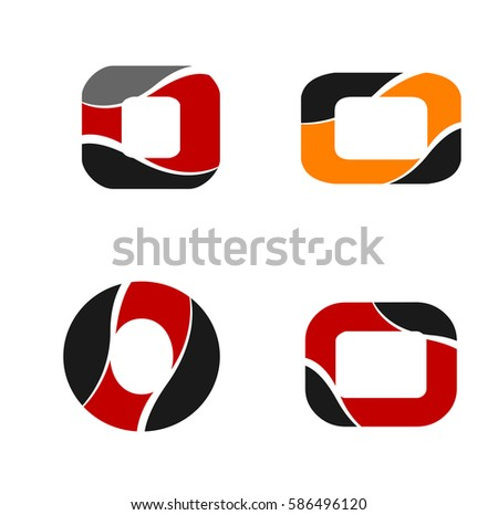 Logo Letter O Element Abstract Web Stock Vector 586496120 Shutterstock