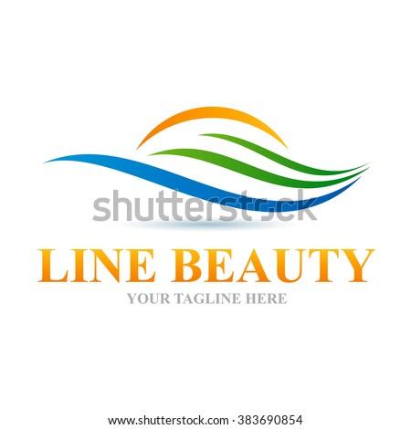 Logo Line Beauty Icon Element Template Design Logos - stock vector