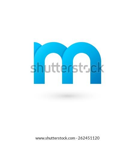 Logo M letter. Isolated on white background. Vector illustration, eps 10. - stock vector