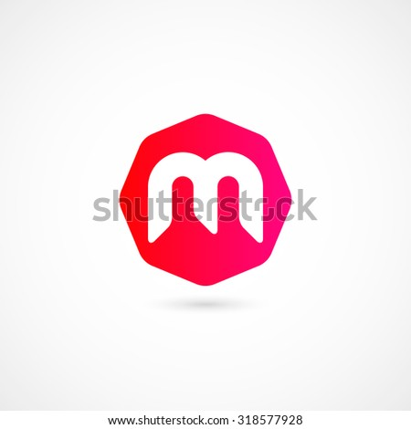 Logo M letter. Isolated on white background. Vector illustration, eps 10. - stock vector