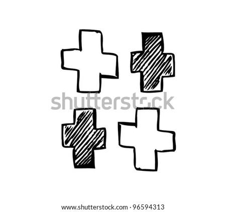 logo medical vector illustration - stock vector