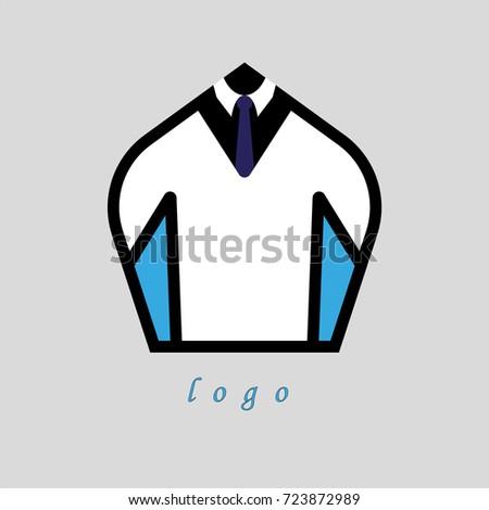 Logo Mens Suit Emblem Company Stock Vector 723872989 Shutterstock