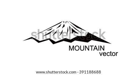 Logo Mountain Fuji Black Triangles