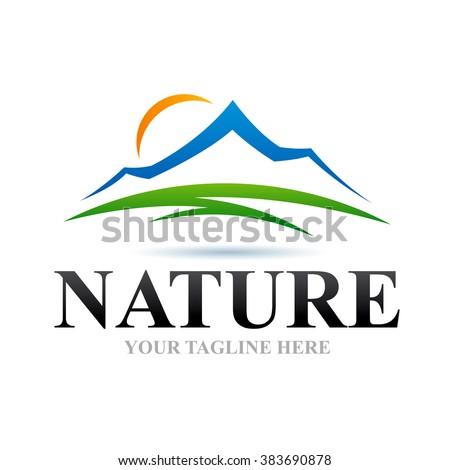 Logo Nature Icon Element Template Design Logos - stock vector