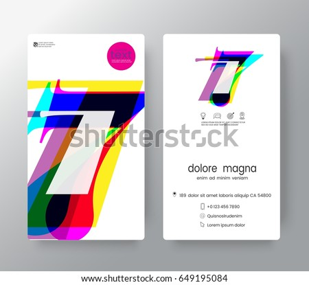 number 7 templates