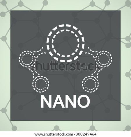 Logo of DNA molecule for Nanotechnology products. For medicine, biomedicine, chemistry, physics, biomedical engineering, biophysics, biochemistry - stock vector