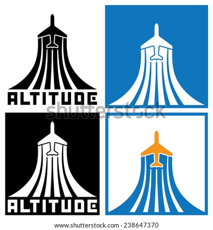 logo on the theme of aviation, aircraft, air traffic. can be used in a variety of cases, both as part of the company's logo, and both individual symbol or sign - stock vector