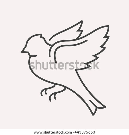 logo or label bird line style logotype template easy to use business template