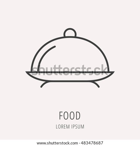 logo or label food. Line style logotype. Easy to use business template. Vector abstract sign or emblem.
