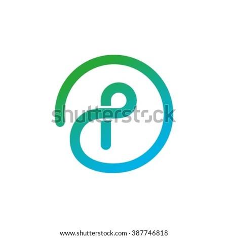 Logo P Design - stock vector