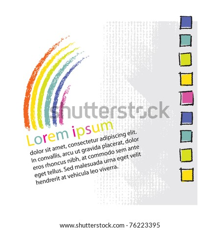 Logo  - rainbow symbolic design (blank text layout) - stock vector