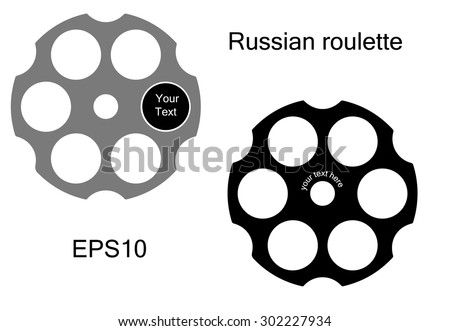 Logo Russian roulette style. Vector illustration - stock vector