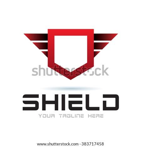 Logo Shield Icon Element Template Design Logos - stock vector