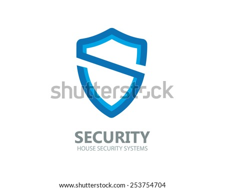 Logo shield in the form of the letter S - stock vector