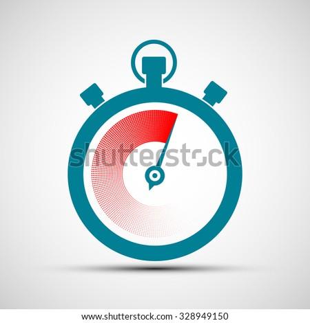 Logo stopwatch. Flat design. Stock vector illustration. - stock vector