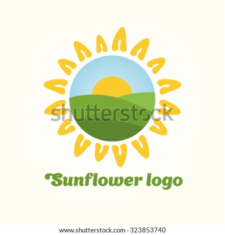 sunflower logo stock images, royalty-free images & vectors