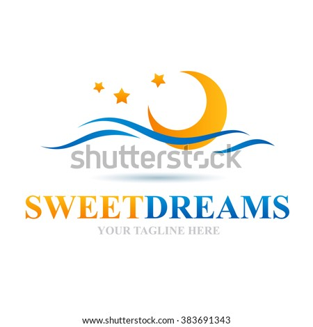 Logo Sweet Dreams Icon Element Template Design Logos