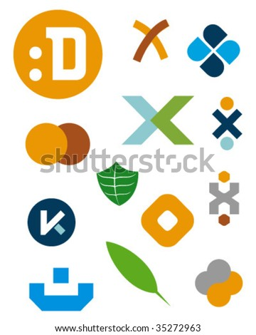 logo symbols kit - stock vector