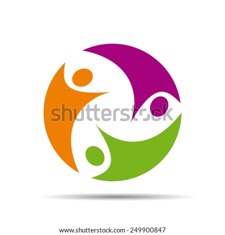 Logo teamwork on white background # Vector