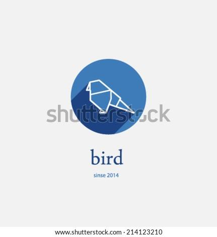 Logo template. Corporate icon for logotype. Vector. Bird. - stock vector