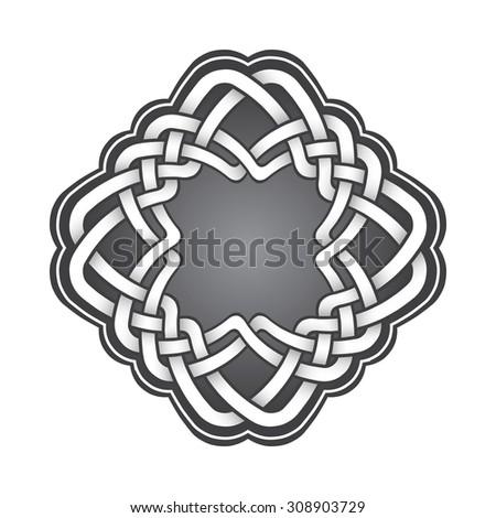 Logo Template Celtic Knots Style Stylish Stock Vector Royalty Free