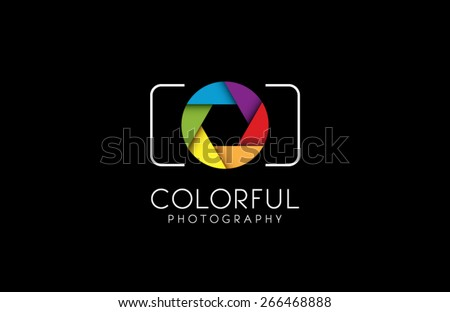 Logo template photography studio, photographer, photo. Company, brand, branding, corporate, identity, logotype. Clean and modern style - stock vector