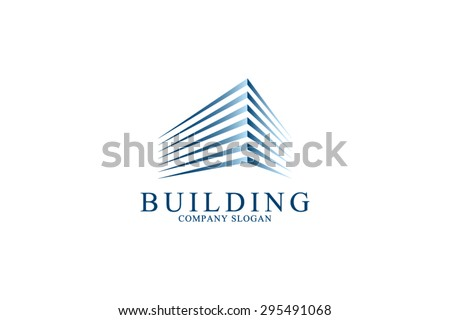 Logo template real estate, apartment, condo, house, rental, business. brand, branding, logotype, company, corporate, identity. Clean, modern and elegant  style design - stock vector