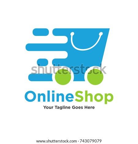 Logo Template Shopping Logo Includes Express Stock Vector (2018 ...