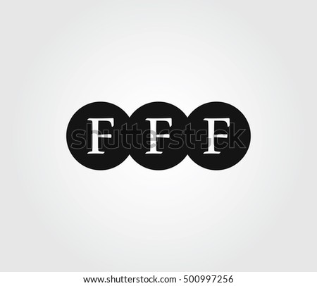 logo three letters f logo letters stock vector royalty free