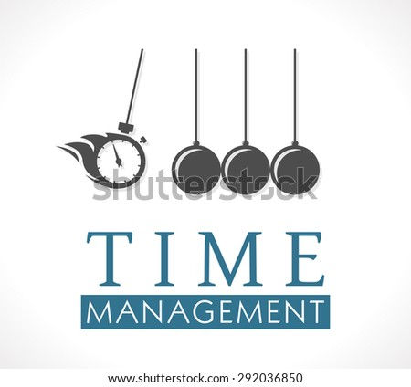 Logo - Time management concept - stock vector