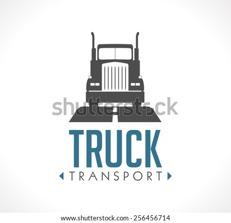 Logo - Truck transport - stock vector