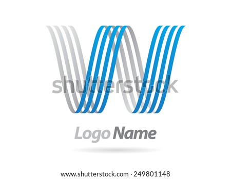 Logo vector design.Letter W  logo template. - stock vector