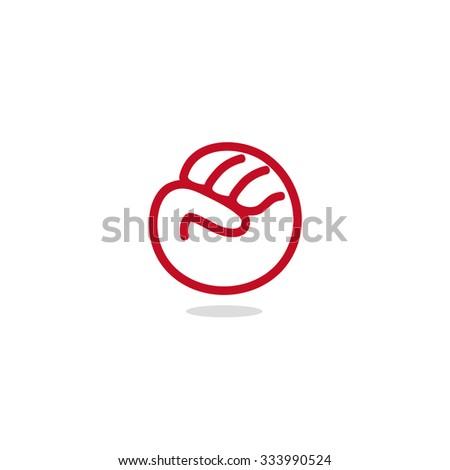 Logo. Vector. Glove. - stock vector