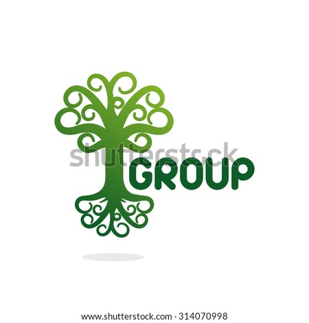 Logo. Vector. Tree. Green.