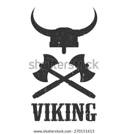 Logo Viking Helmet And Axes