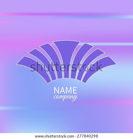 Logo with text box on blurry background.Labels, badges and design elements - stock vector