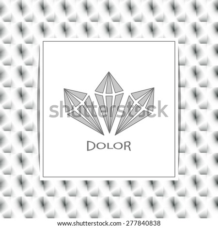 Logo with text box on gray background.Labels, badges and design elements - stock vector