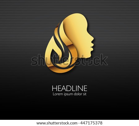 Logo woman profile beauty illustration vector abstract silhouette, head, face logo isolated. Use for beauty salon, spa, cosmetics design, etc  - stock vector