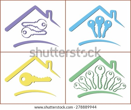 Logos of cottages.