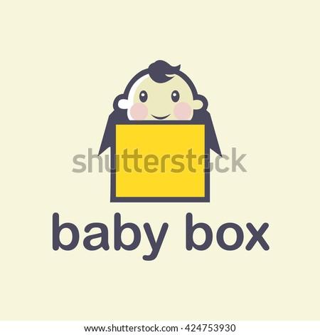 Logotype baby box - stock vector