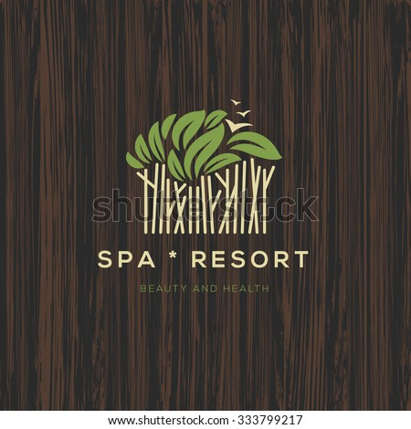 Logotype for spa resort or beauty business, logo design, vector illustration.