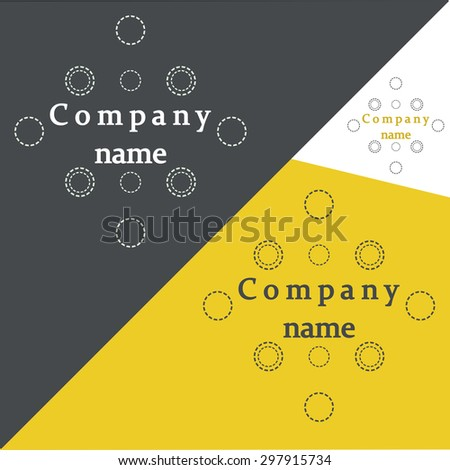 Logotype icon design for Medicine, Biotechnology, Science, Electronics, Engineering, Laboratory, Technology. Vector brochure - stock vector