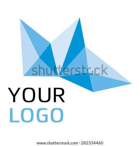 Logotype isolated on white background for different companies, as web agency, start-up, software house, engineering, R&D, chemical, pharmaceutical industry, new business, consulting, optimization - stock vector